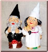 Gartenzwerge Brautpaar bereit zur Hochzeit Gartenzwerg Ehepaar - 6001400