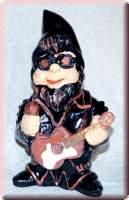 Gartenzwerg Rocker liebt Rockmusik - 3080070