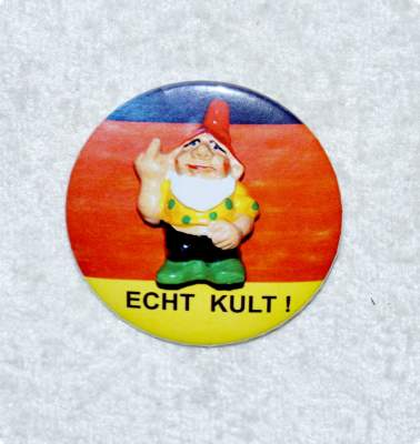 Button Gartenzwerg Kult